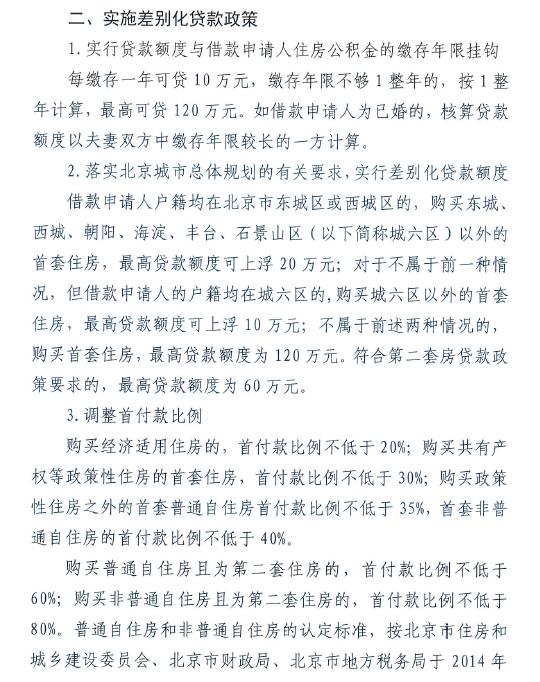 北京公积金新政:认房又认贷 缴存1年可贷10万【3】