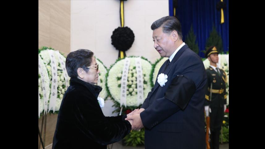 李鹏同志遗体在京火化