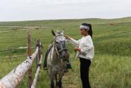 姑娘縱馬放聲唱