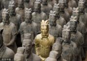 """国庆节假期45万人次西安""""争看""""兵马俑"""