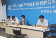 中國大地保險快速啟動應急預案應對河南特大暴雨 已受理報案787件