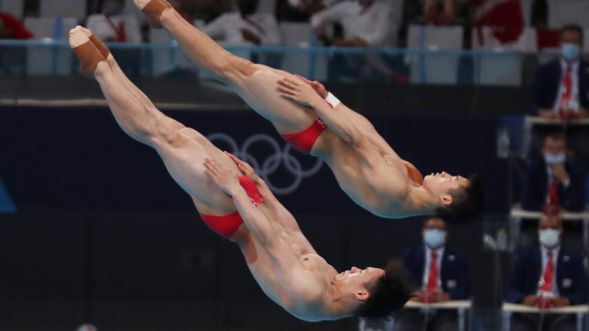 王宗源/謝思埸獲得男子雙人3米板冠軍